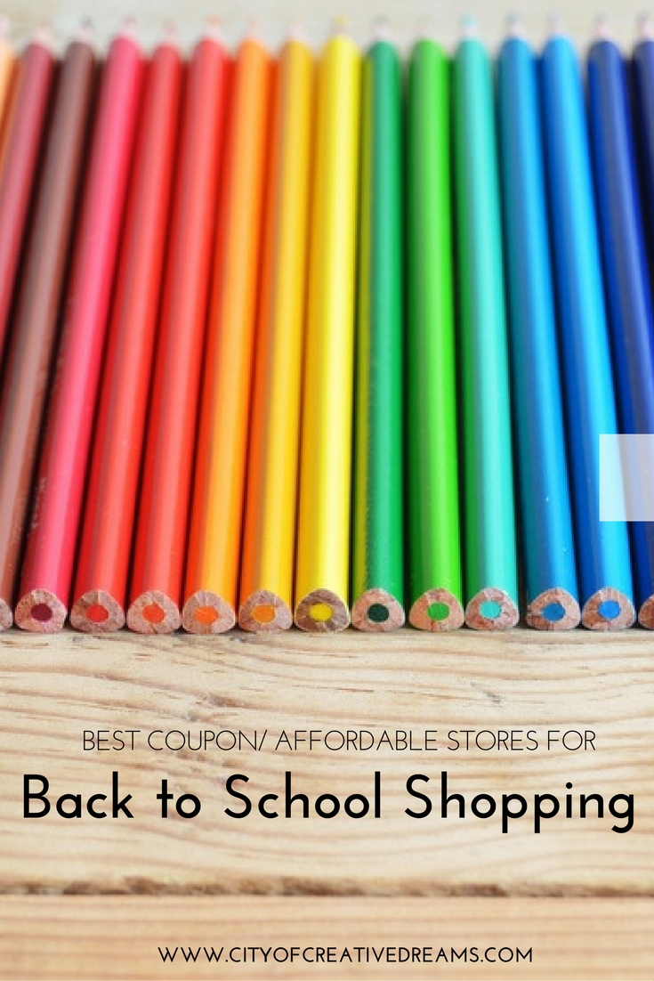 Best Coupon/ Affordable Stores for Back to School Shopping | City of Creative Dreams