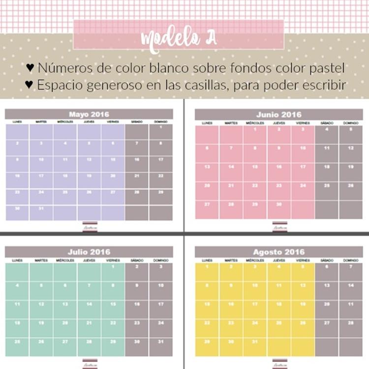 Calendario Para Escribir.Luccalba El Calendario Para El 2016 Ya Esta Aqui