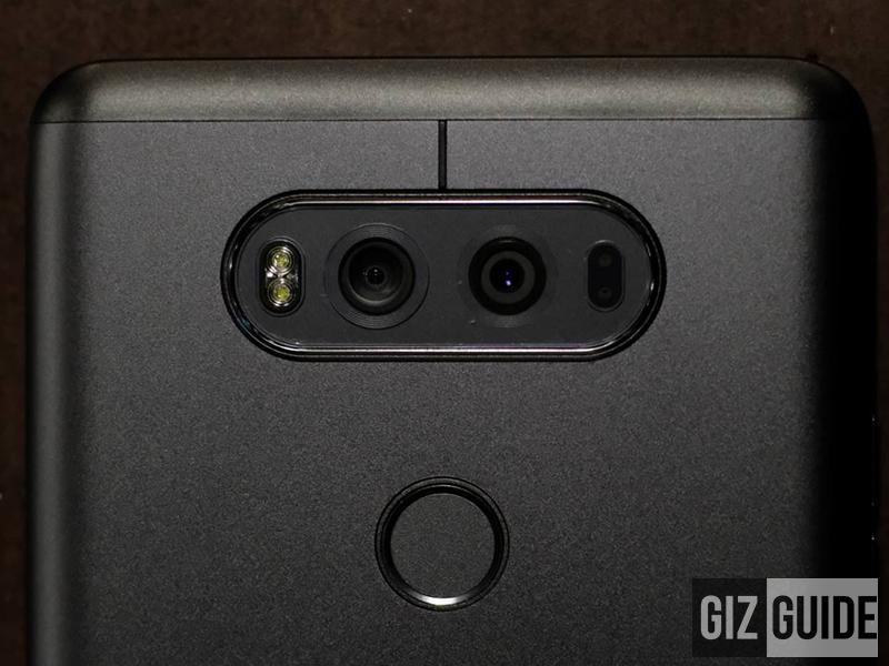 LG V20 has a 16 MP primary lens and an 8 MP wide angle secondary lens