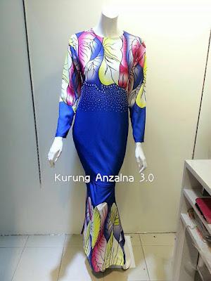 borong Kurung Anzalna 3.0 , borong Kurung Anzalna 3.0 murah, stokis baju kurung  murah,