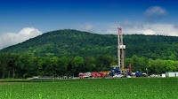 Marcellus shale gas-drilling site in Lycoming County, Pennsylvania. (Photo Credit: Nicholas A. Tonelli/Flickr) Click to Enlarge.