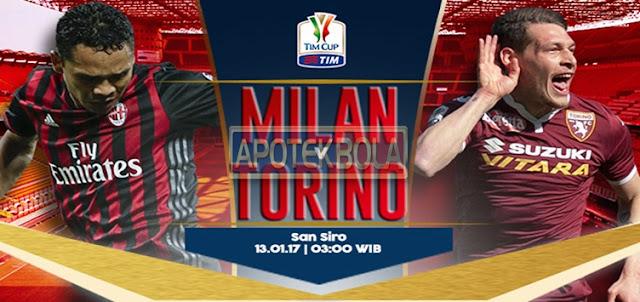 Prediksi Pertandingan AC Milan vs Torino 13 Januari 2017