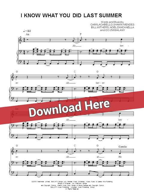 shawn mendes, i know what you did last summer, sheet music, piano notes, score, chords, download, keyboard, guitar, tabs, learn to play, how, klavier noten, partition, compose