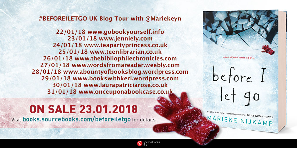 Before I Let Go by Marieke Nijkamp UK Blog Tour Banner