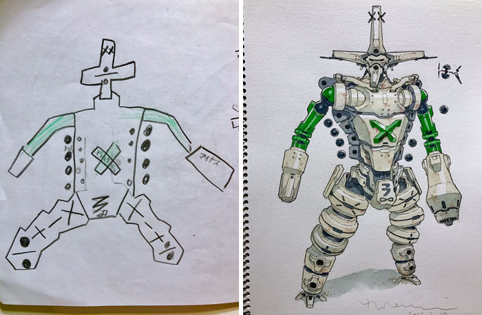 #9 K-3 (Keisan) - Dad Turns His Sons' Doodles Into Anime Characters, And The Result Is Amazing