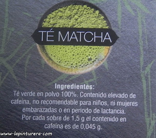 té matcha ingredientes