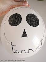 Detalle Guirnalda de globos Halloween. Halloween garland.