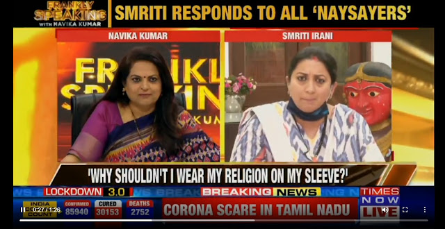 Smritis Irani - Why should not I wear my religion on my sleeve?