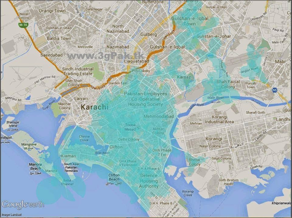 TLENOR 3G COVERAGE AREA COMPLETE DETAIL IN KARACHI, LAHORE