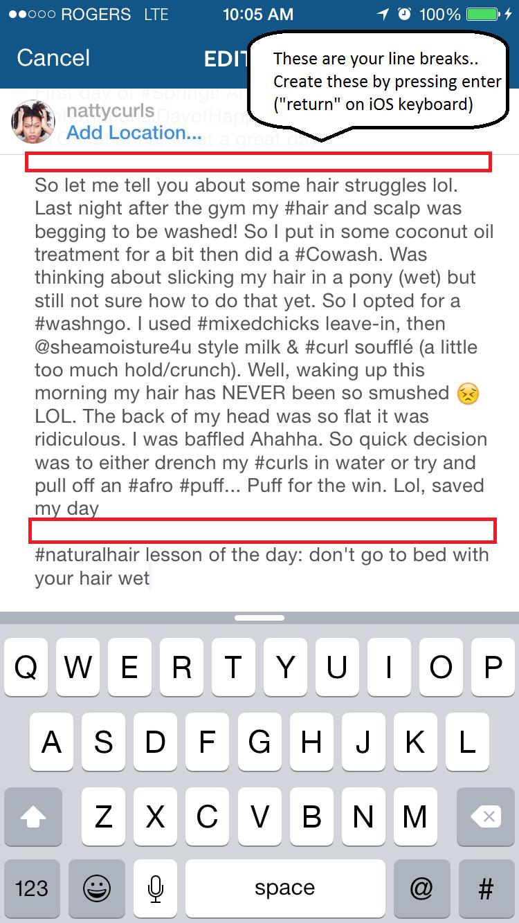 Cara Membuat Line Break Di Caption Instagram 6