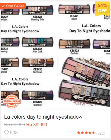 Harga eyeshadow paling murah di Shopee