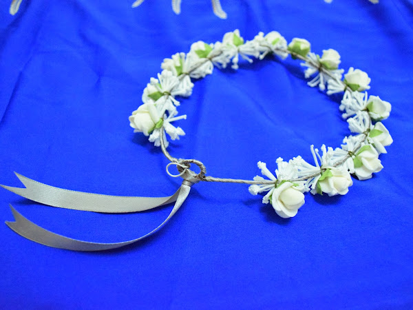 {Real DIY} : Homemade flower crown for Bridesmaid ( Yaya's Wedding)