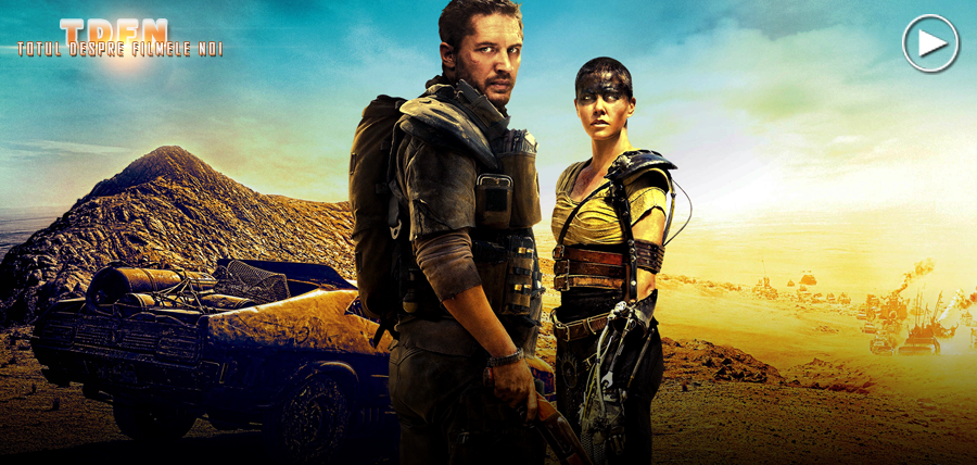 Tom Hardy şi Charlize Theron în nebunia cinematografică Mad Max: Fury Road