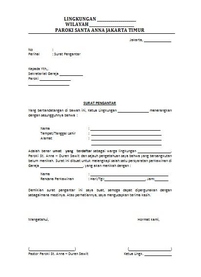 Contoh Surat Pemberkatan Nikah Gereja Bertemuco