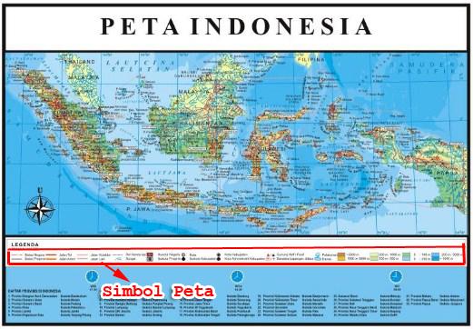 Simbol pada Peta
