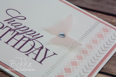 Make In A Moment - Pretty Birthday Card Featuring the Bohemian Boarders Stamp Set from Stampin' Up! UK