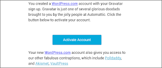 Confirm email and activate gravatar account