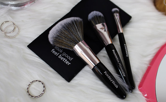 lgfb, makeup brushes, tools, review, flatlay, clean