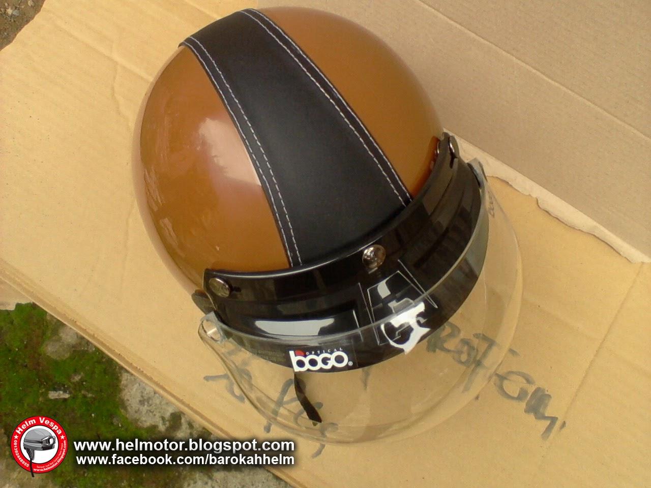 Helm Bogo Coklat Avatar Hitam  Helm Vespa