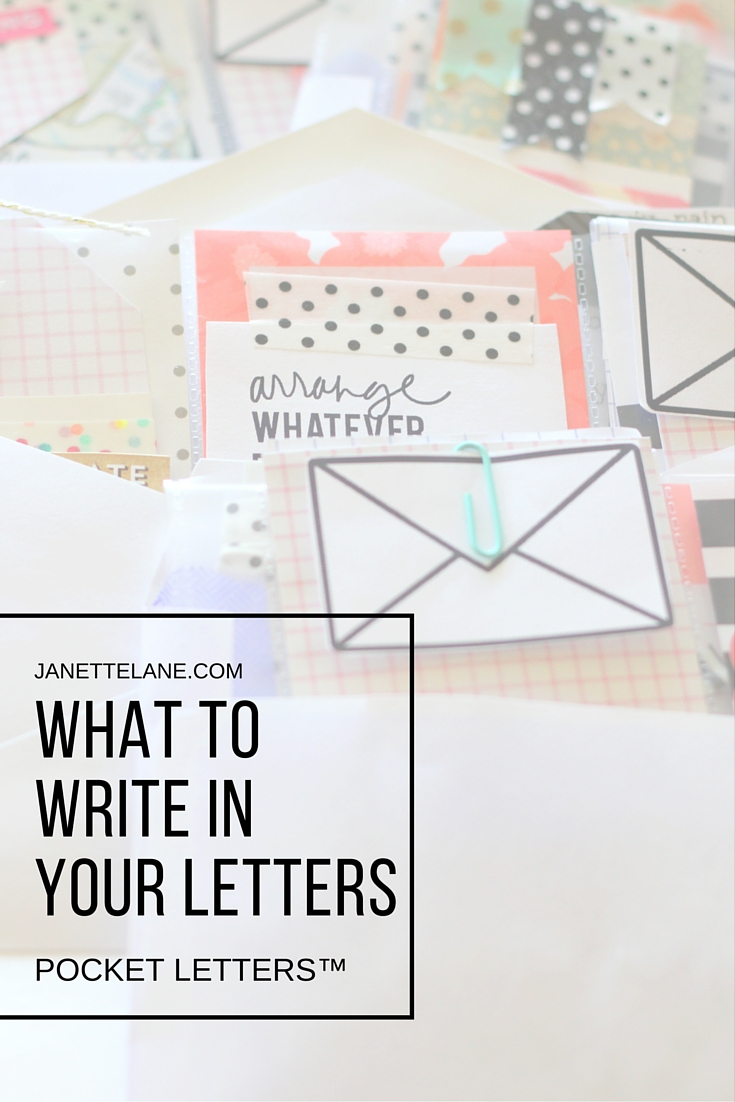 pocket letters letters what to write
