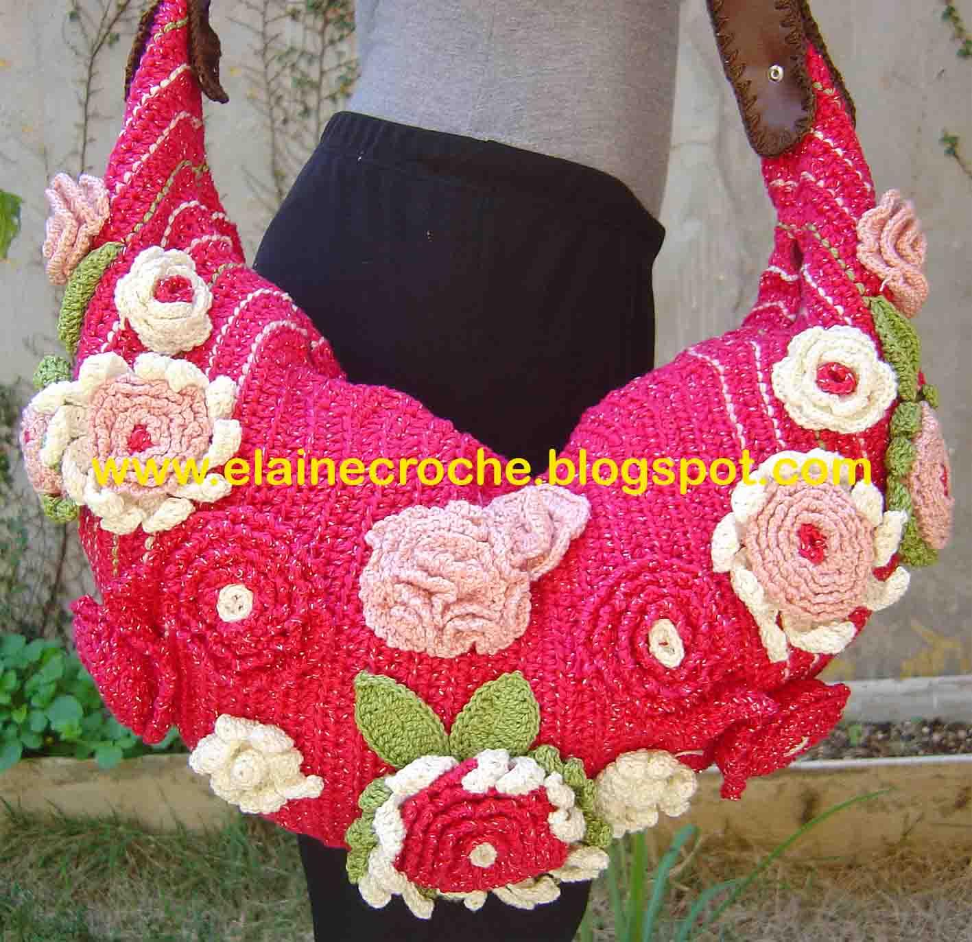 """8a20f9f38031 As """"bolsólotras"""" sempre tem uma bolsa de Crochê no guarda-roupa. Tenho uma  cliente que já comprou 6 bolsas do mesmo modelo mudando a cor e o tamanho  em ..."""
