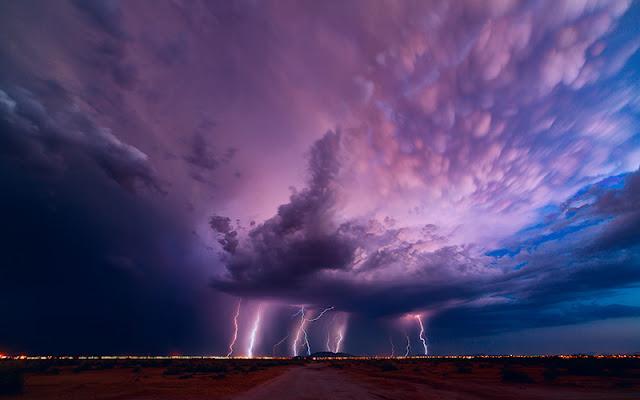 صور الطبيعية مع البرق