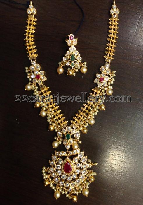 50 grams kundan necklace jewellery designs