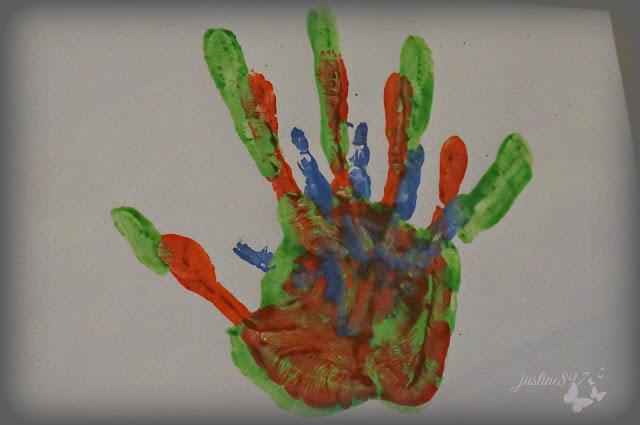obraz odciski dłoni