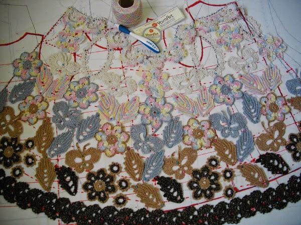 Unir piezas de Crochet Ruso