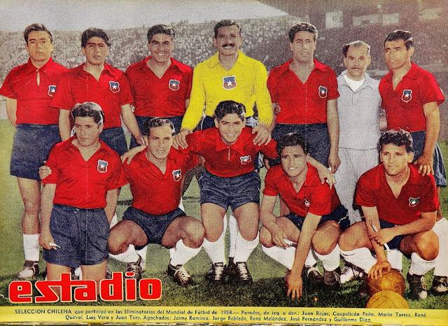 Formación de Chile ante Argentina, Clasificatorias Suecia 1958, 13 de octubre de 1957