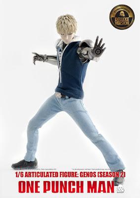 Figuras: Increíble figura articulada de Genos de One-Punch Man - ThreeZero