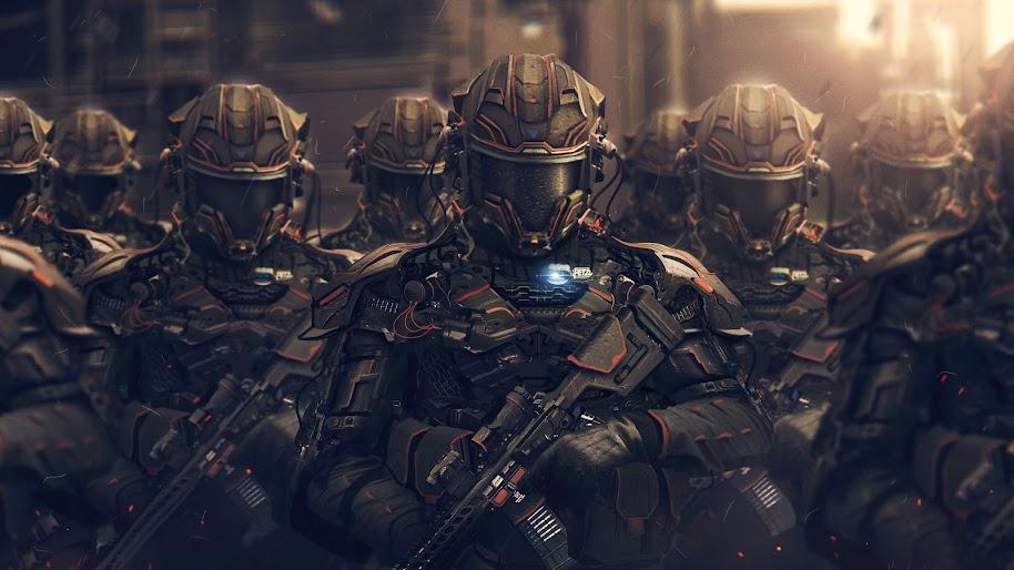 Sci-Fi, Soldiers, 4K, #84