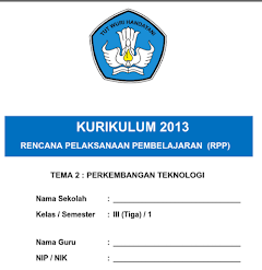 RPP Kelas 3 Kurikulum 2013 Semester Satu Dan Dua Untuk SD/MI