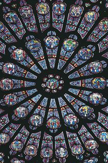 Stained glass window - Notre Dame Cathedral, Paris