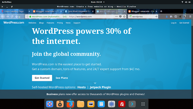 cara membuat blog i wordpress