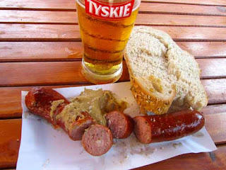 Lunch Kielbasa Polish Sausage Wroclaw Poland food