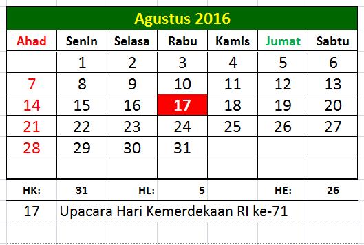 Edit Kaldik Mudah Pakai Kaldik Versi Ms.Exel Kaldik Tahun 2016-2017