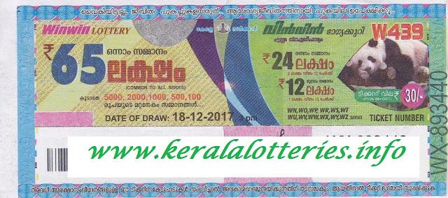 Latest image of Kerala lottery Win Win