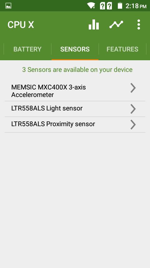Primo E8+ Sensors