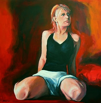 Frauenporträt Portrait einer Frau vom Foto bestellen malen