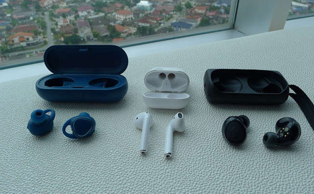 Apple AirPods, Samsung Gear IconX and Bragi The Headphone