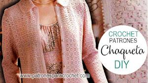 Chaqueta super femenina a crochet / Patrones