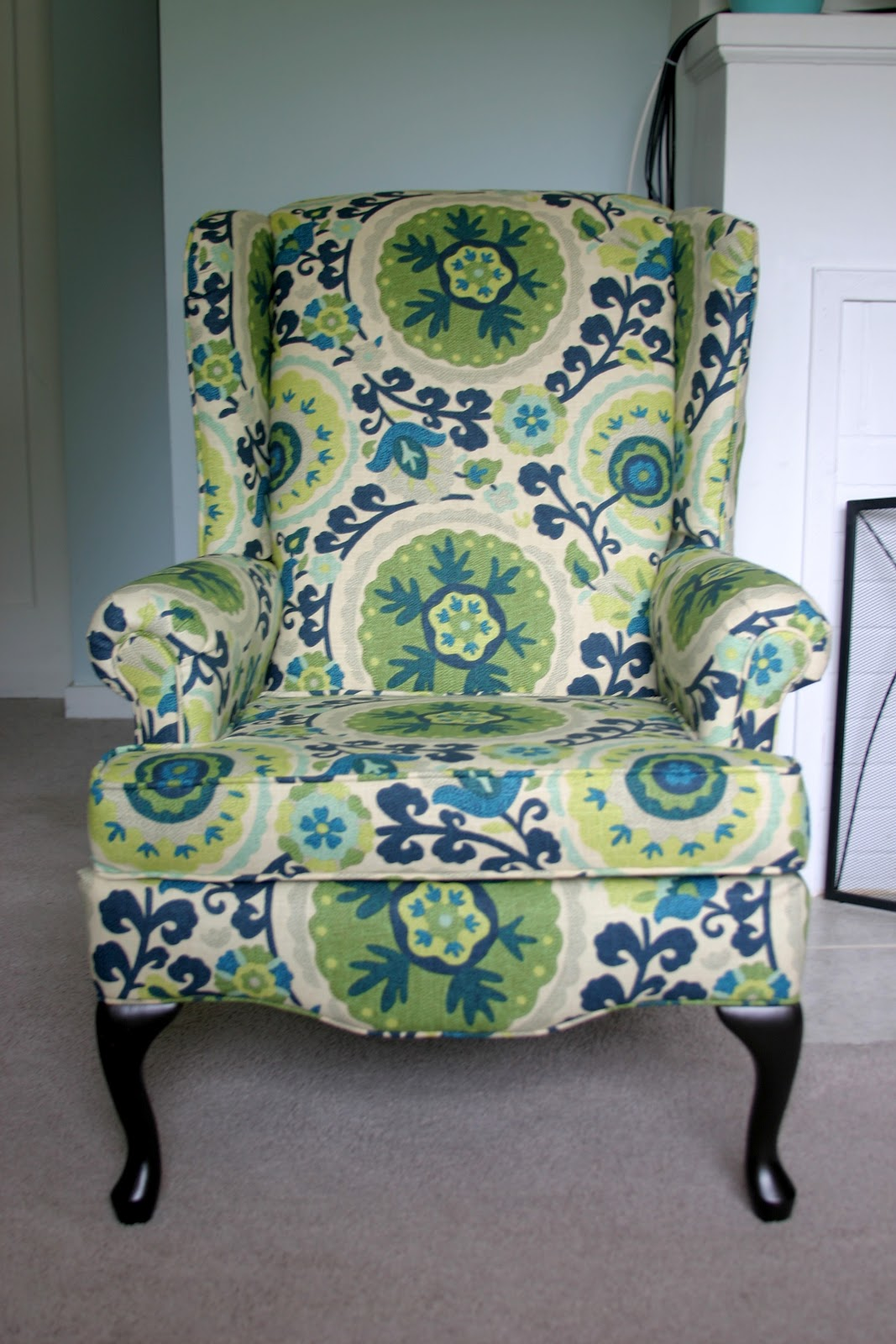 make bake and love ReUpholstering a Wing Back Chair
