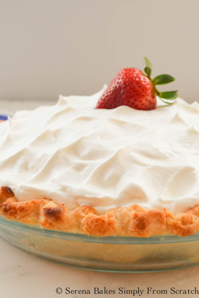 Fresh Strawberry Pie with easy to follow step by step photo instructions from Serena Bakes Simply From Scratch.
