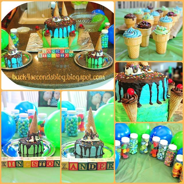 Melting Ice Cream Cone Cake #birthday #party #icecream #cake #birthday