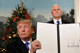 Isi Pidato Lengkap Trump Saat Mengakui Yerusalem Ibu Kota Israel