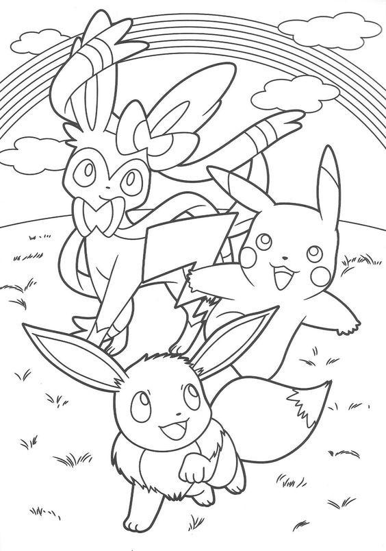 Tranh tô màu Pokemon 19