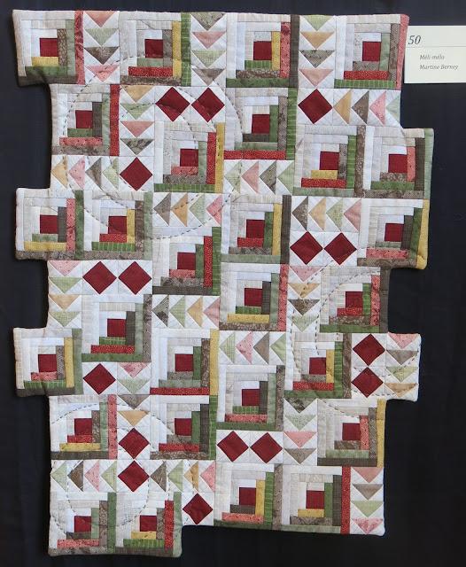 Méli-mélo par Martine Berney - Exposition de quilts - Patchmania 2017 à L'Abbaye