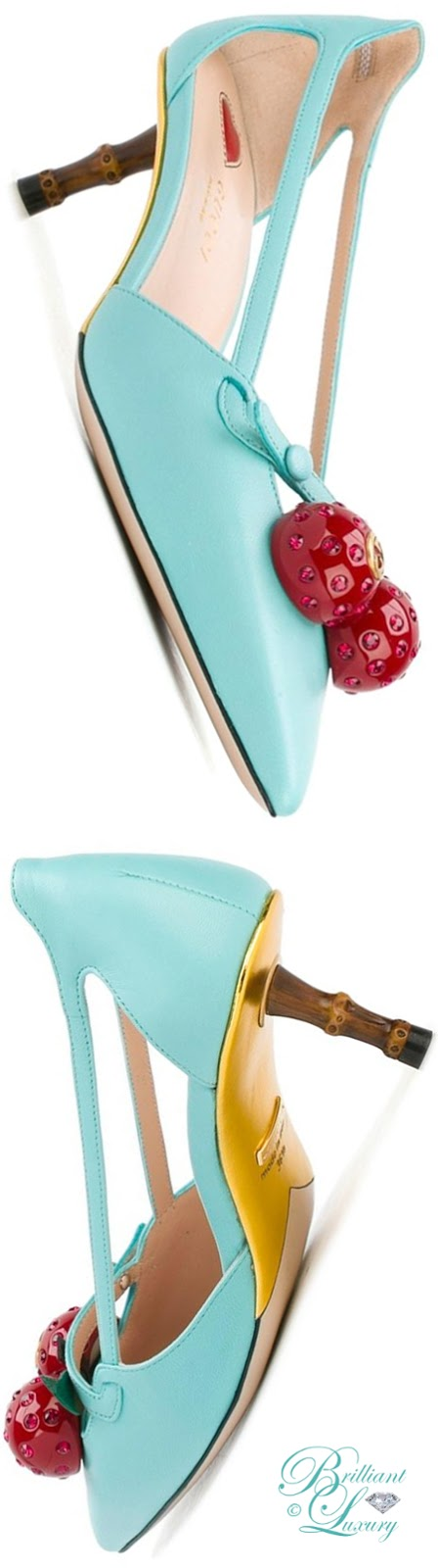 Brilliant Luxury ♦ Gucci Cherry Pumps