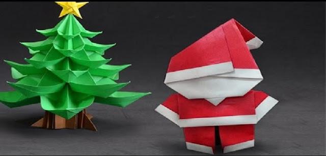 Origami de Papai Noel passo a passo com imagens e vídeos